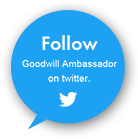 Follow Goodwill Ambassador on twitter.