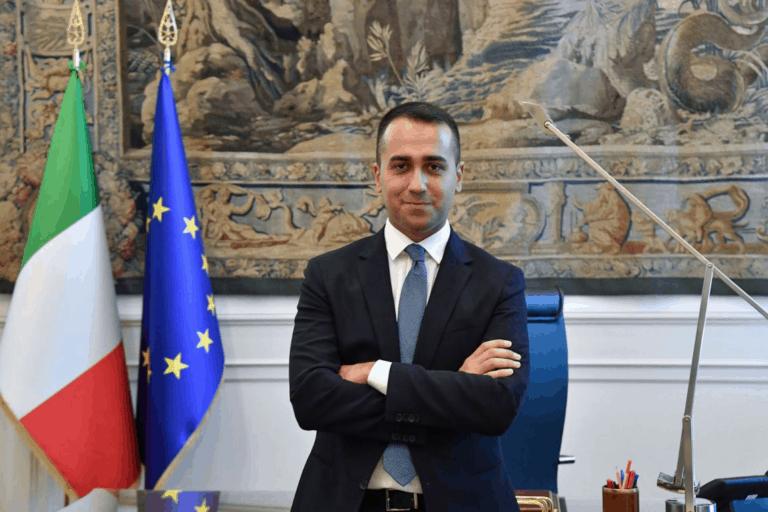 Foreign Minister Luigi Di Maio